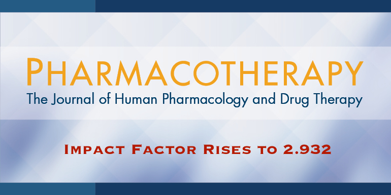 Pharmacotherapy Impact Factor Increases to 2.932