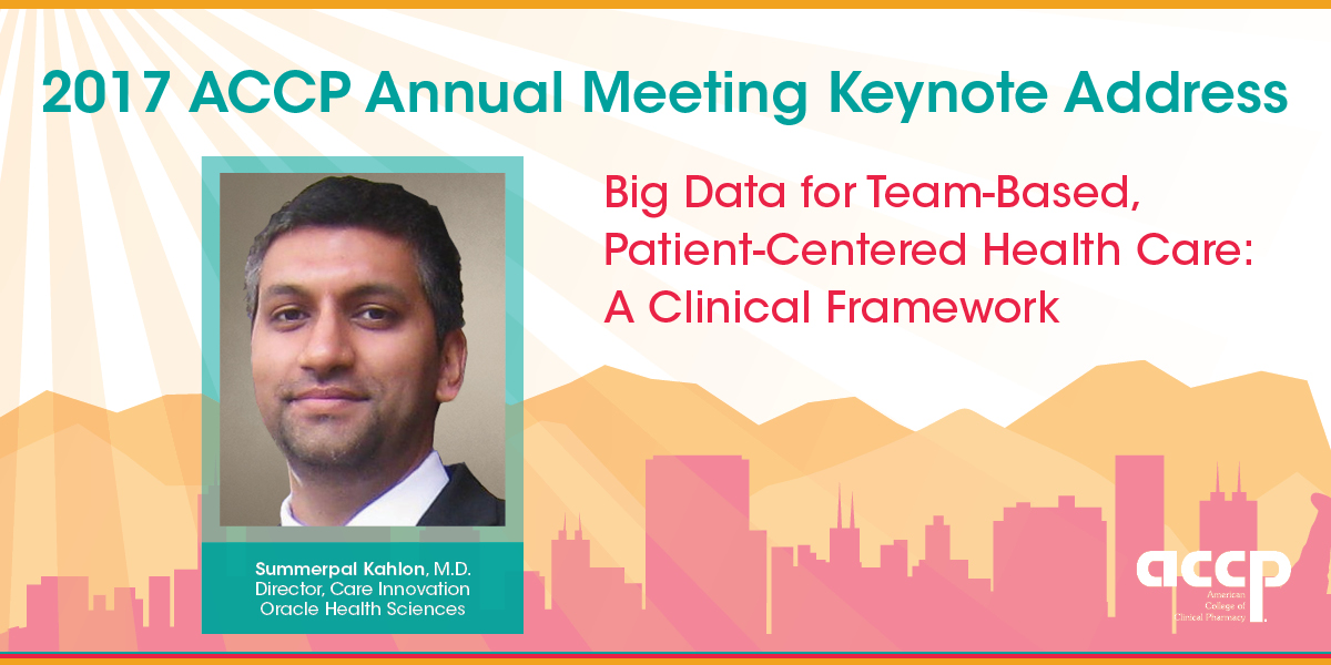 2017 Annual Meeting Keynote to Focus on Big Data for Team-Based, Patient-Centered Health Care