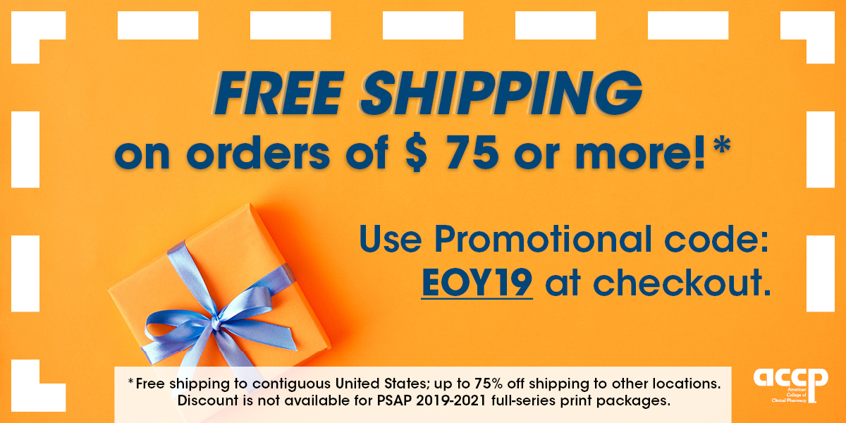 Free shipping from the ACCP Bookstore