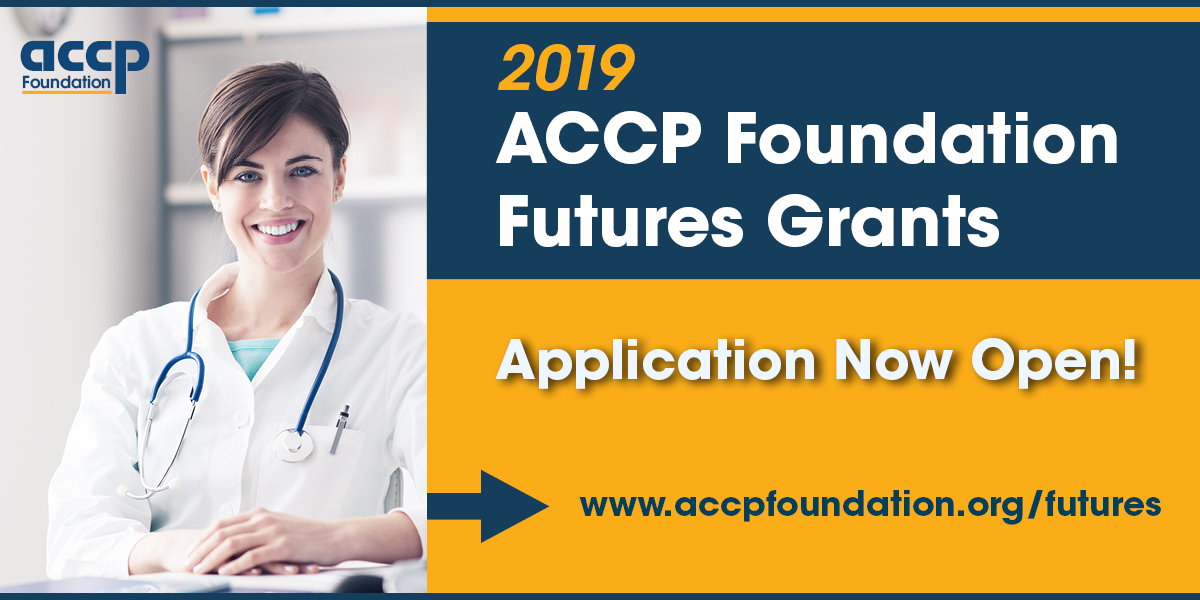ACCP Foundation 2019 Futures Grants Application Now Open!