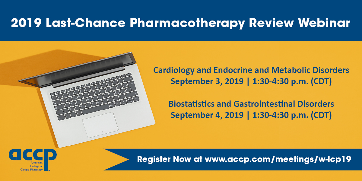 Last-Chance Pharmacotherapy Review Webinar