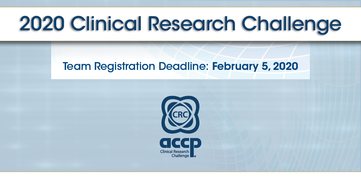 ACCP Clinical Research Challenge Registration Available Online