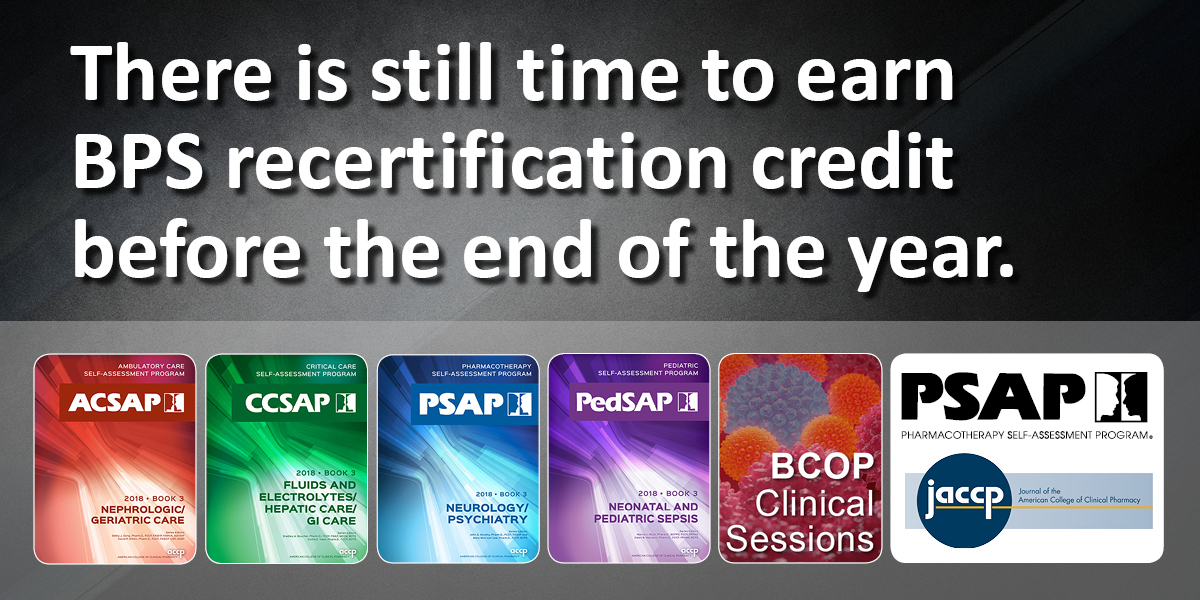 Opportunities for 2018 Recertification Credit