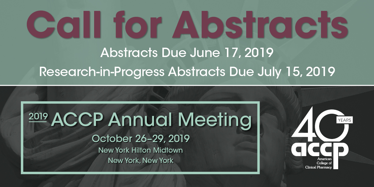 2019 ACCP Annual Meeting Call for Abstracts