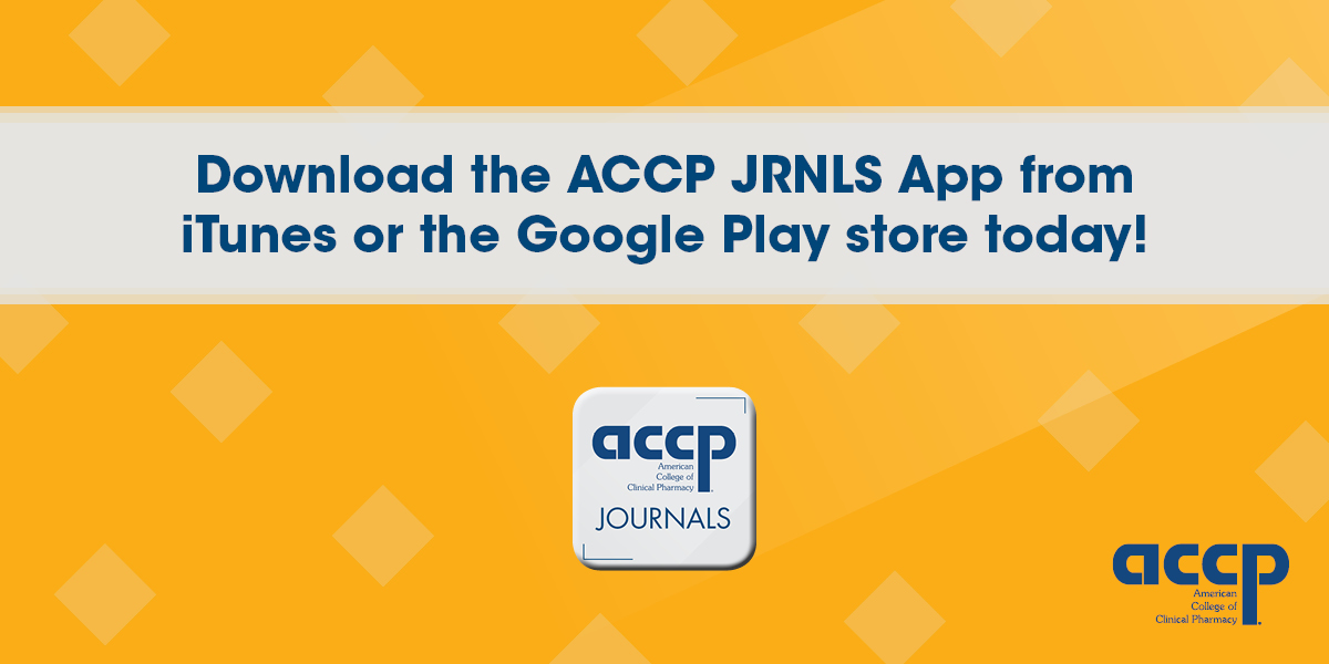 Download the JACCP JRNLS App from iTunes or the Google Play store today!