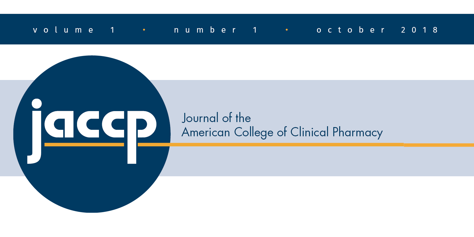 Issue 1 of JACCP Now Available Online