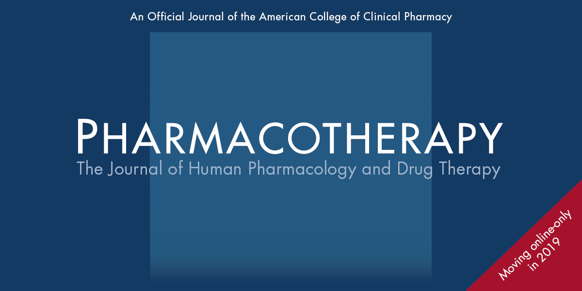 <i>Pharmacotherapy</i>: Online Only in 2019
