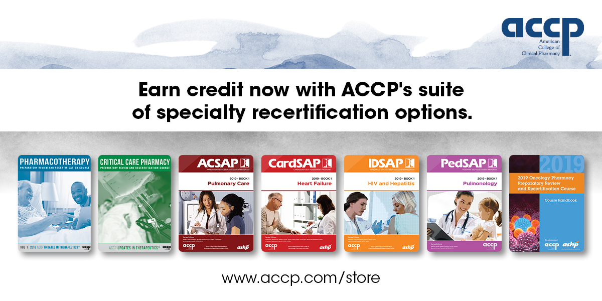 Now Available: ACCP's Suite of Specialty Recertification Credit Options