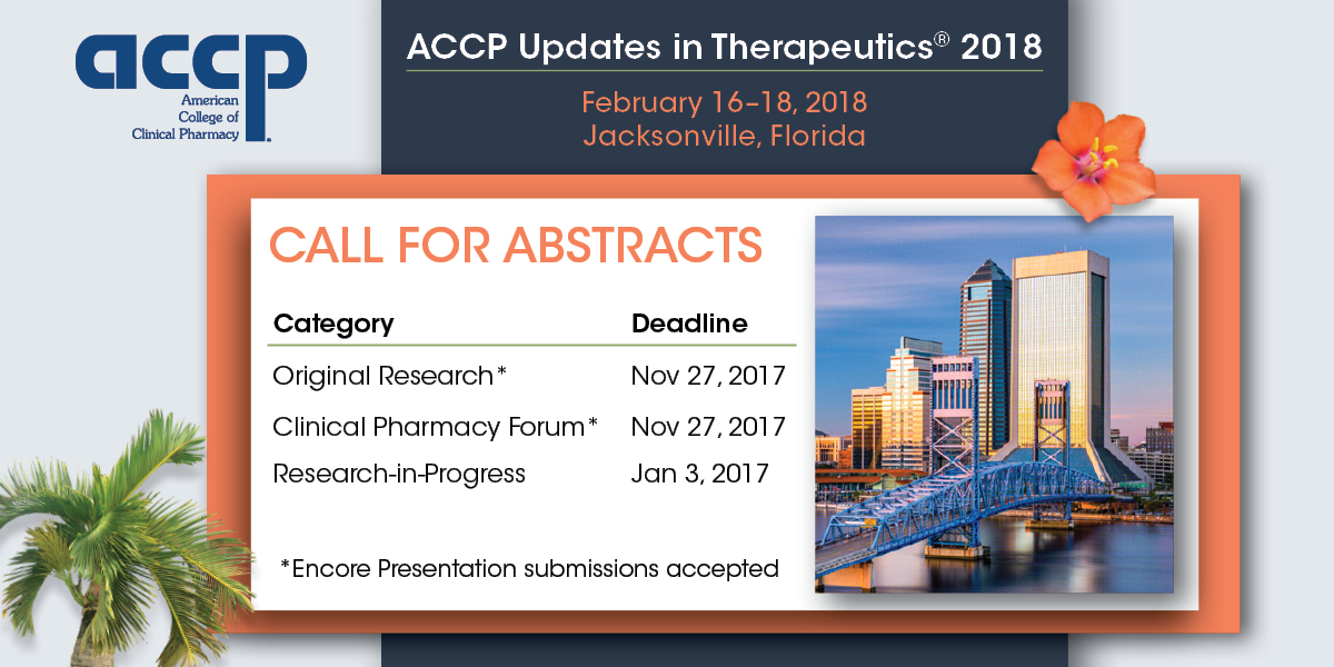 Updates in Therapeutics® 2018 Call for Abstracts