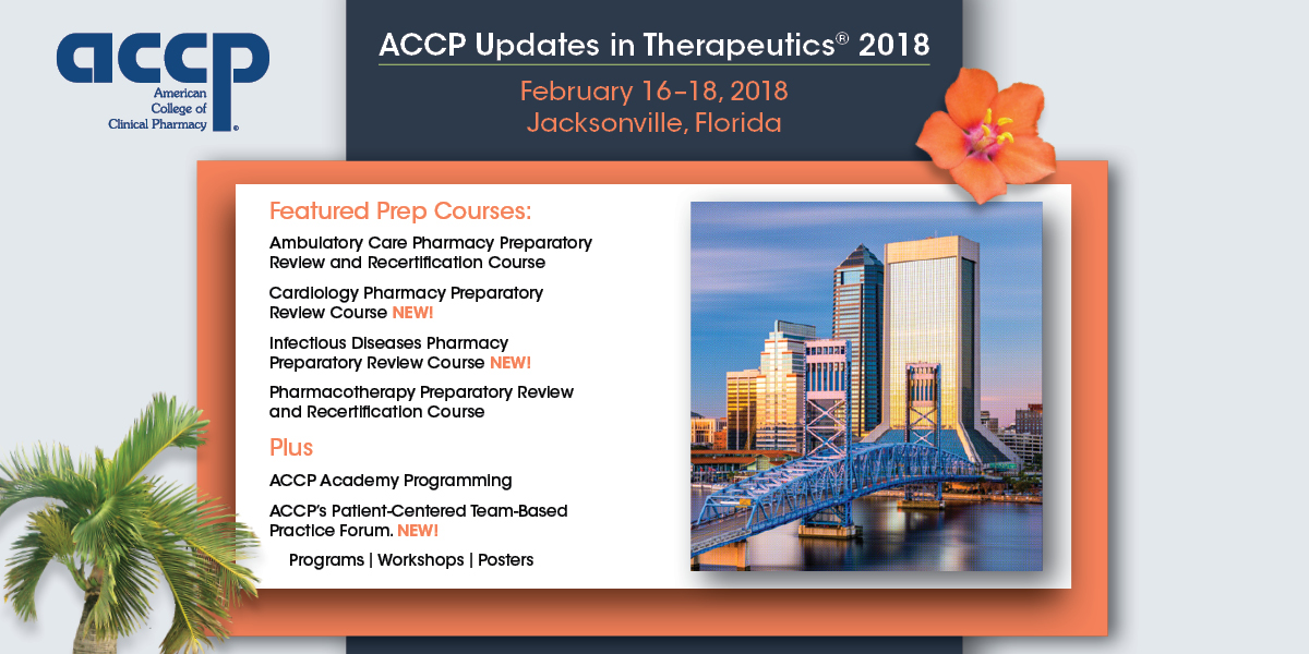 ACCP's Prep Courses Available February 2018—There Is Still Time to Register...