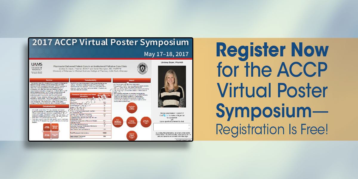 Register Now for the ACCP Virtual Poster Symposium...