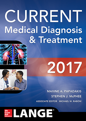 CURRENT Medical Diagnosis and Treatment 2017, 56th Edition