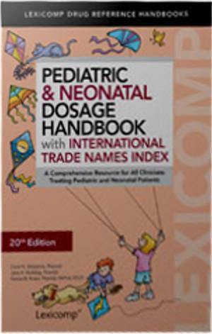 pediatric and neonatal dosage handbook pdf