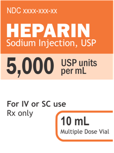 Current Heparin Label
