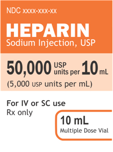 Revised Heparin Label
